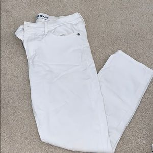 Cropped Legging Midrise White Jeans